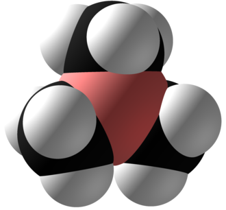 Trimethylborane - Image: Trimethylborane Space Fill