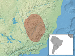 Trinomys setosus distribution (colored).png