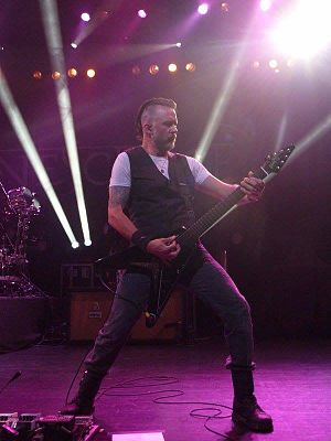 Troy McLawhorn - McLawhorn performing with Evanescence at the Ruth Eckerd Hall in 2016