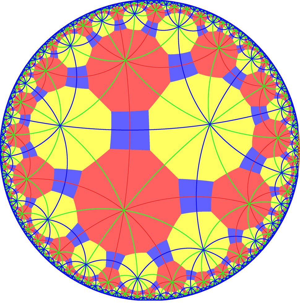 Truncated order-4 hexagonal tiling with mirrors