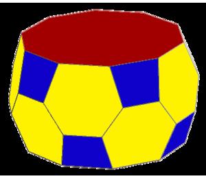 Pentagonal antiprism - Image: Truncated pentagonal antiprism
