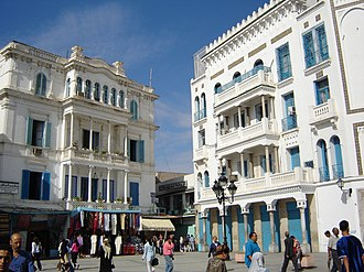 "Italian Tunisians - Buildings showing influence of the Italian ""Liberty"" architecture in Tunis"