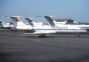 1993 Sukhumi airliner attacks - Image: Tupolev Tu 134A 3, Aeroflot AN1089509