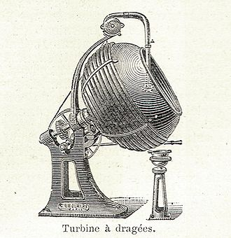 Dragée - Spinner (turbine) used to apply sugar to the candies.