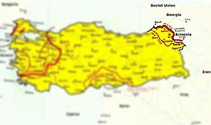 Turkish–Armenian War - Map of the war