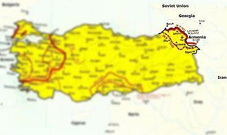 Turkish–Armenian War - Map of the war