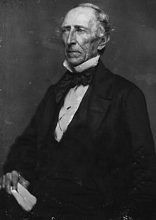 A daguerreotype of John Tyler made about 1850.