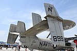 U.S.NAVY E-2D Advanced Hawkeye(168991) of VAW-125 stabilizer right rear view at MCAS Iwakuni May 5, 2018.jpg