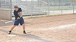 U.S. Coast Guard Fireman John Ziemba, assigned to the icebreaker USCGC Morro Bay (WTGB 106), swings at a pitch during his unit's softball practice July 31, 2013, at Kennedy Field in Cleveland 130731-G-KB946-023.jpg