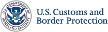 Logo of the U.S. Customs and Border Protection.