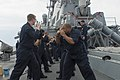 U.S. Sailors conduct self-defense training aboard the guided-missile destroyer USS Cole (DDG 67) in the Black Sea Oct. 18, 2014 141018-N-IY142-399.jpg