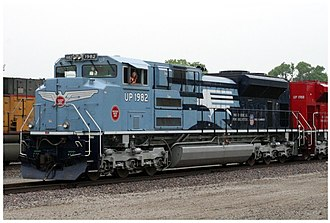 Missouri Pacific Railroad - Modern Union Pacific EMD SD70ACe locomotive, painted in MoPac livery.