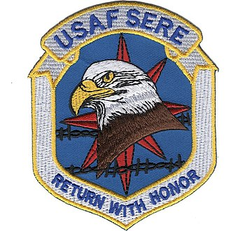 "Specialist patch worn by U.S. Air Force ""Survival Instructors"" USAF SERE Patch.jpg"