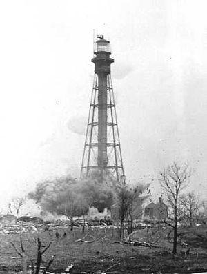 Hog Island Light - Image: USCG Hog Island Lightdemo 1
