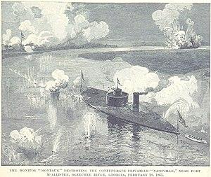 USS Montauk (1862) - Montauk destroys Rattlesnake