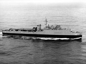 USS Tortuga (LSD-26) - USS Tortuga (LSD-26) at sea in the 1960s