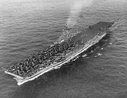 USS Wasp (CV-18) at sea in the Western Pacific on 6 August 1945 (80-G-261904)