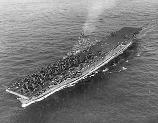 USS Wasp (CV-18) at sea in the Western Pacific on 6 August 1945 (80-G-261904).jpg