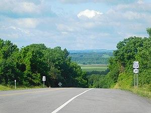 U.S. Route 20A (New York) - US 20A and NY 39 in the town of Geneseo