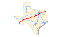 US 67 (TX) map.svg