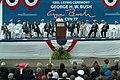 US Navy 030906-N-2383B-050 Adm. Vern Clark, Chief of Naval Operations (CNO), makes remarks during the keel laying ceremony of the George H.W. Bush (CVN 77) aircraft carrier.jpg