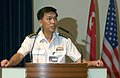 US Navy 060530-N-9851B-004 Republic of Singapore Navy Fleet Commander Col. Tan Kai Hoe, speaks about the significance of Cooperation Afloat Readiness and Training (CARAT).jpg