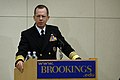 US Navy 070403-N-0696M-015 Chief of Naval Operations (CNO) Adm. Mike Mullen speaks at the Brookings Institution on the Navy's effort to formulate a new maritime strategy.jpg