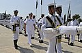 US Navy 090820-N-8273J-056 Chief of Naval Operations (CNO) Adm. Gary Roughead, middle, inspects Pakistan Navy sailors during a welcoming ceremony at Pakistan Naval Headquarters.jpg