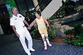 US Navy 091007-N-6220J-004 Rear Adm. Bill Goodwin, Assistant Chief of Naval Operations for the Next Generation Enterprise Network, tours Shriners Hospital for Children in Greenville with a young patient.jpg