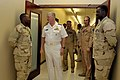 US Navy 100330-N-8273J-074 Chief of Naval Operations (CNO) Adm. Gary Roughead meets with Sailors assigned to the Combined Air Operations Center at Al Udied Airbase, Qatar.jpg