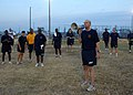 US Navy 100908-N-4959G-044 Rear Adm. Dave Thomas gives words of encouragement during a cool-down after the first SURFLANT hosted Chief Petty Office.jpg