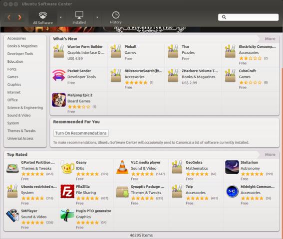 ubuntu software center free