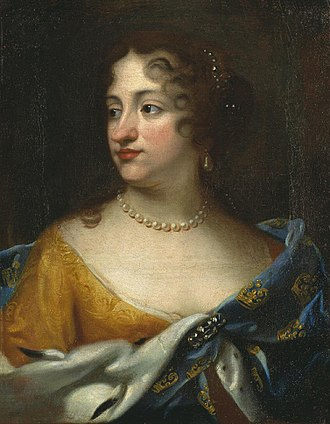 Ulrika Eleonora of Denmark - Portrait attributed to Jacques d'Agar, 1677