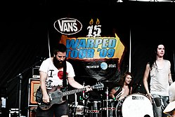 Underoath live bei der Vans Warped Tour 2009.