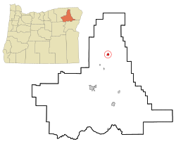 Ligging van Elgin in Oregon
