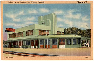 Plaza Hotel & Casino - Union Pacific Station, Las Vegas, ca. 1940