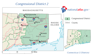 United States House of Representatives elections in Connecticut, 2008 - Image: United States House of Representatives, Connecticut District 2 map