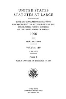 United States Statutes at Large Volume 110 Part 2.djvu
