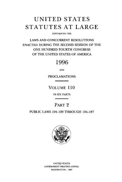 File:United States Statutes at Large Volume 110 Part 2.djvu