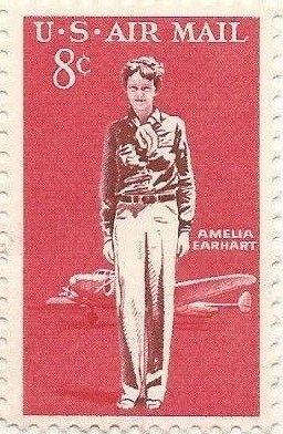 United States postage stamp honoring Amelia Earhart (1963)