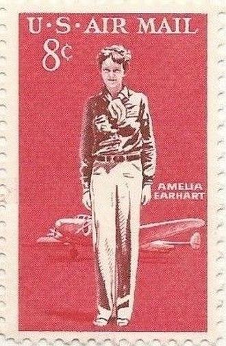 Amelia Earhart - 1963 U. S. Postal stamp honoring Amelia Earhart