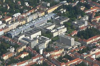 University of Graz - Aerial photography of the main campus