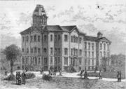 The university in 1875.