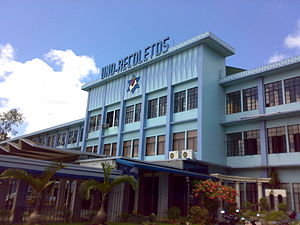 University of Negros Occidental – Recoletos - The UNO-R Administration building façade.