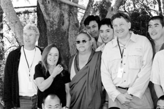 Ursula Goodenough - Ursula Goodenough in Dharamsala, India with Richard Gere, Eric Lander and a Buddhist Bhikkhu