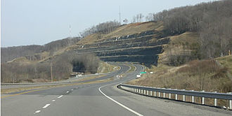 U.S. Route 52 in West Virginia - US 52 at Prichard, West Virginia where the 1998 and 2001 sections join; it is visible by the change of pavement.