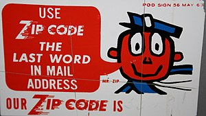 ZIP Code - A 1963 U.S. Post Office sign