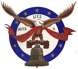 USS Liberty (AGTR-5) - Insignia of USS Liberty (AGTR-5), in use in 1967