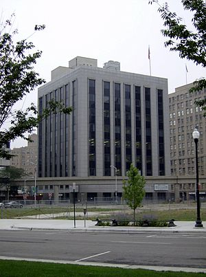 Detroit Statler Hotel - Vacant lot where the Detroit Statler Hotel once stood