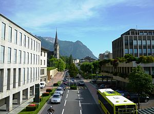 Economy of Liechtenstein - Image: Vaduz Zentrum
